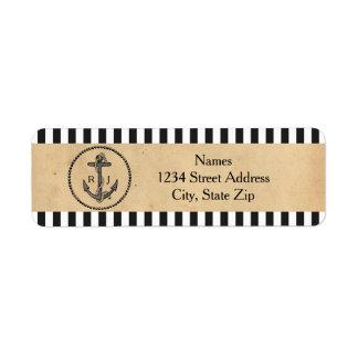 Ancre nautique vintage - étiquettes de adresse