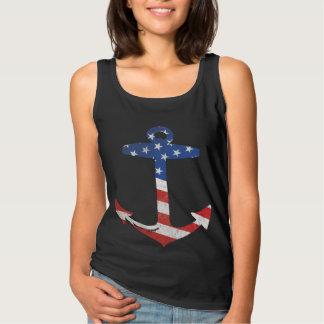 Ancre patriotique vintage de drapeau américain débardeur