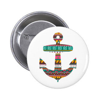Ancre tribale badge rond 5 cm