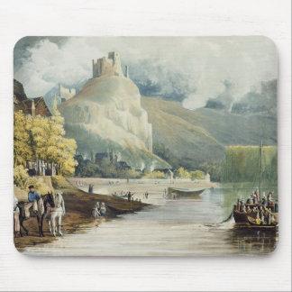 """Andely, des """"vues sur la Seine"""", gravée par Tho Tapis De Souris"""