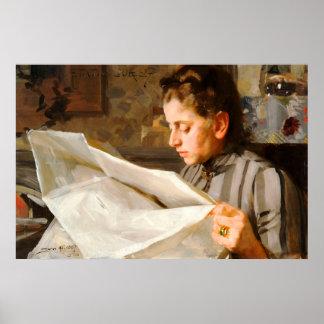 Anders Zorn - lecture de l'affiche CC0275 Affiche