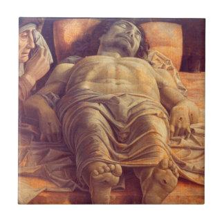 ANDREA MANTEGNA - lamentation du Christ 1480 Petit Carreau Carré