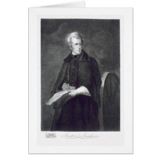 Andrew Jackson, 7ème Président des États-Unis Carte De Vœux
