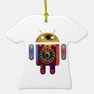 ANDROÏDE par Navin Joshi Ornement T-shirt En Céramique
