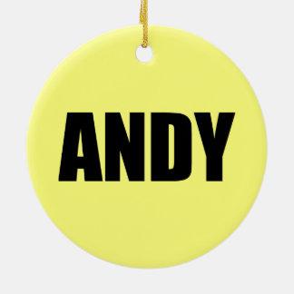 Andy Ornement Rond En Céramique