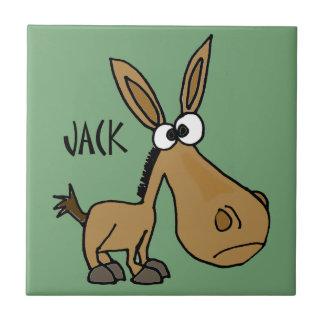 Âne drôle appelé Jack Petit Carreau Carré