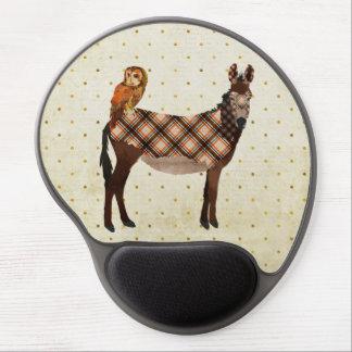 Âne et hibou Mousepad de plaid Tapis De Souris Avec Gel