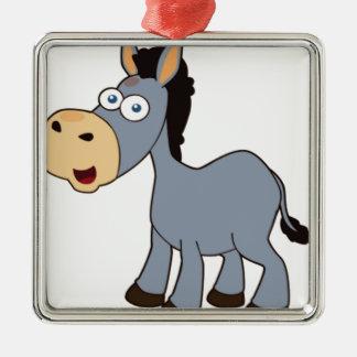 âne gris ornement carré argenté