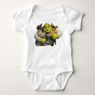 Âne, Shrek, et chat dans les bottes T-shirts
