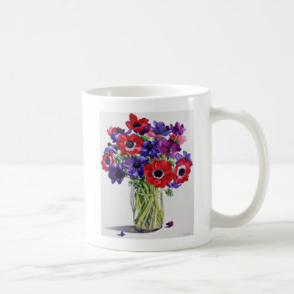 Anémones dans une cruche en verre mug