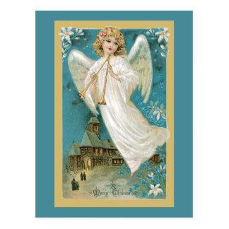 Ange avec des klaxons cartes postales