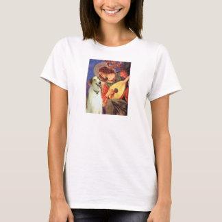 Ange avec la mandoline - barzoï t-shirt