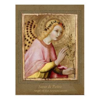 Ange CC0734 Sienese d'annonce de Sano di Pietro Carte Postale