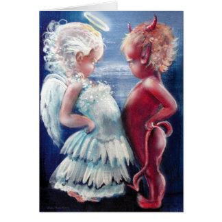 Ange CONTRE la carte de diable