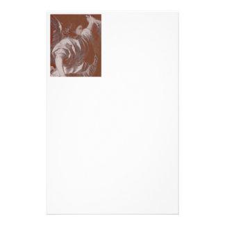 Ange d'annonce de Titian avec la bannière Prospectus 14 Cm X 21,6 Cm