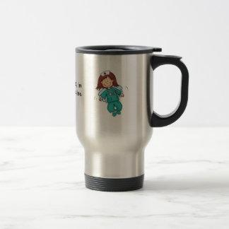 Ange dans le déguisement - cadeau pour l'infirmièr mug à café