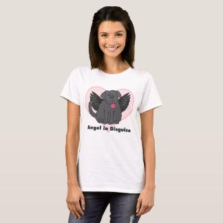 Ange dans le T-shirt de chien de Terre-Neuve de