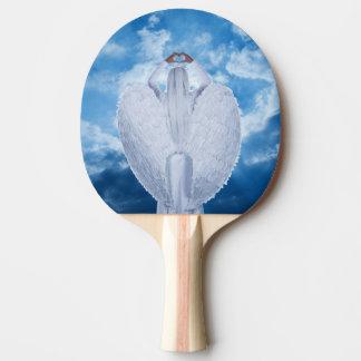 Ange dans les nuages raquette de ping pong