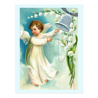Ange de bébé avec Bell bleue Cartes Postales