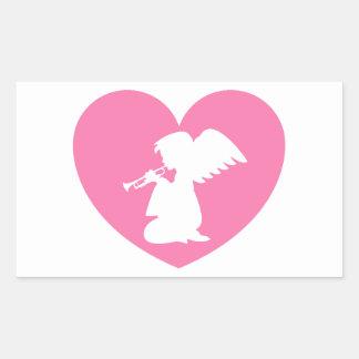 Ange de coeur avec la trompette adhésifs