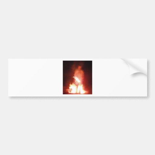 Ange de démon du feu de transition de Sparagmos co Adhésifs Pour Voiture