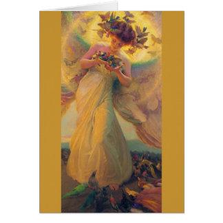 Ange de Franz Dvorak de carte d'anniversaire des