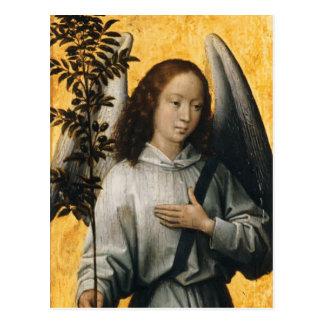 Ange de Hans Memling- tenant une branche d'olivier Cartes Postales