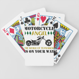 Ange de moto jeux de cartes