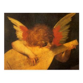 Ange de musicien par Rosso Fiorentino, art vintage Cartes Postales