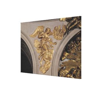Ange de style de Louis XIV, de la voûte Toiles