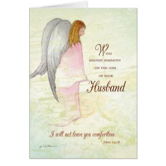 Ange de sympathie de mari carte de vœux