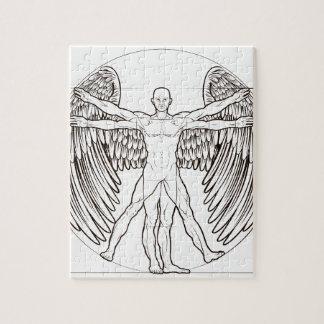 Ange d'homme de Vitruvian Puzzle