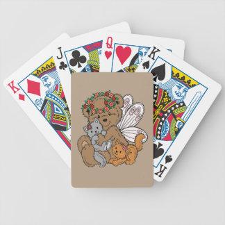 Ange d'ours avec des chatons jeu de poker