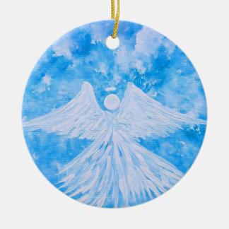 Ange du ciel ornement rond en céramique