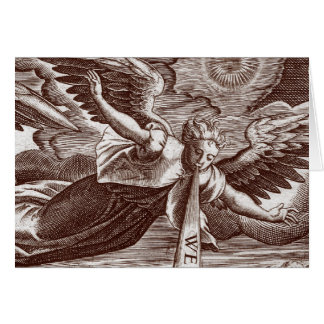 Ange du livre des révélations - carte de voeux