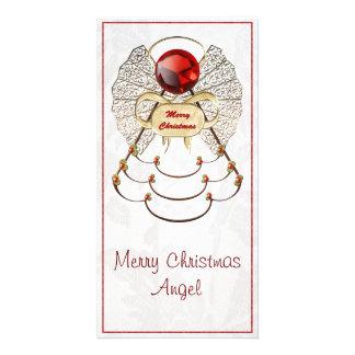 Ange en filigrane métallique de Joyeux Noël Cartes Avec Photo
