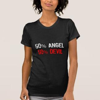 Ange et diable 50% (ailes blanches de longue queue t-shirt