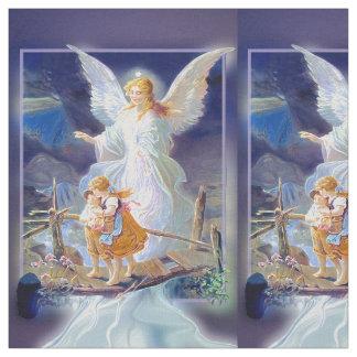 Ange gardien avec des enfants tissu