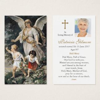 Ange gardien funèbre 3 de la carte   de prière