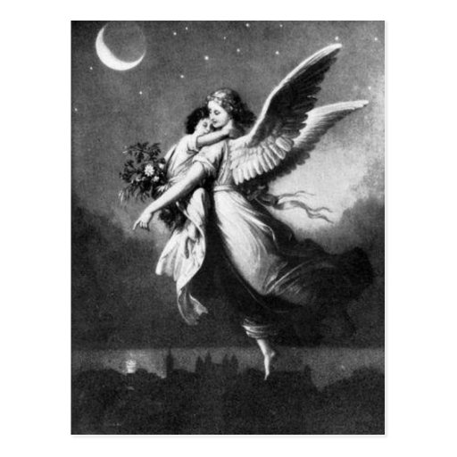 Ange gardien la nuit carte postale