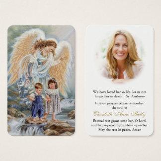 Ange gardien vintage funèbre de la carte   de
