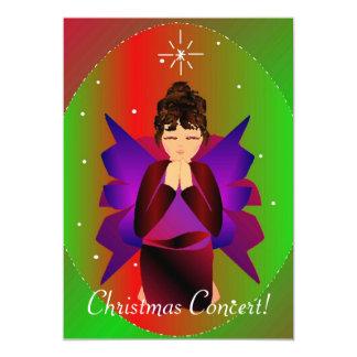 Ange I de Noël Carton D'invitation 12,7 Cm X 17,78 Cm
