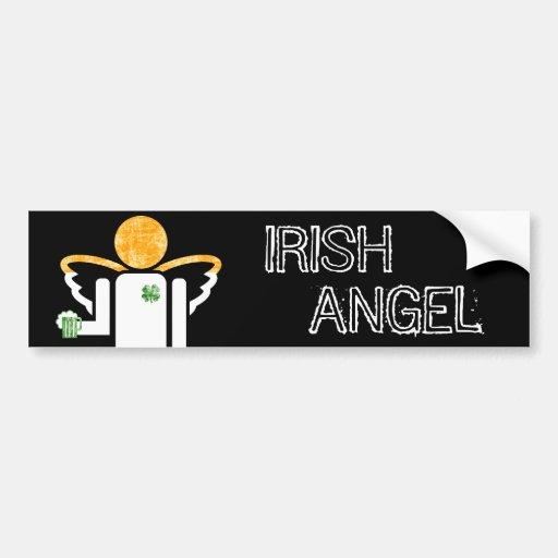 ange irlandais adhésif pour voiture