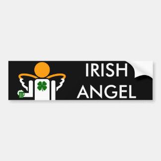 ange irlandais autocollant pour voiture