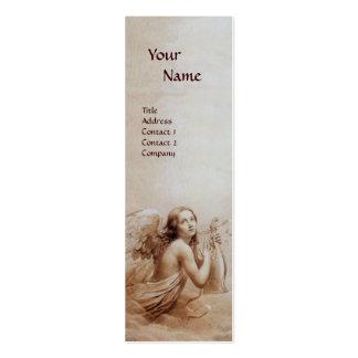 ANGE JOUANT LYRA AU-DESSUS de la perle de Carte De Visite Petit Format