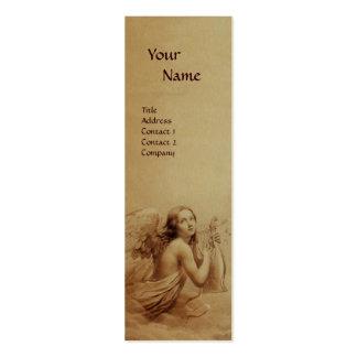 ANGE JOUANT LYRA AU-DESSUS de l'or de monogramme Carte De Visite Petit Format