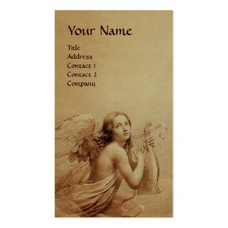 ANGE JOUANT LYRA AU-DESSUS de l'or de monogramme Carte De Visite Standard