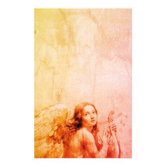 ANGE JOUANT LYRA AU-DESSUS de l'orange d'antiquité Papier À Lettre