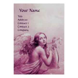 ANGE JOUANT LYRA AU-DESSUS DES NUAGES, papier de Carte De Visite Grand Format