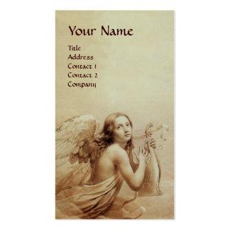ANGE JOUANT LYRA AU-DESSUS du monogramme de NUAGES Carte De Visite Standard